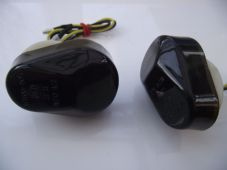LED indicators fairing mounted Kawasaki smoked lens